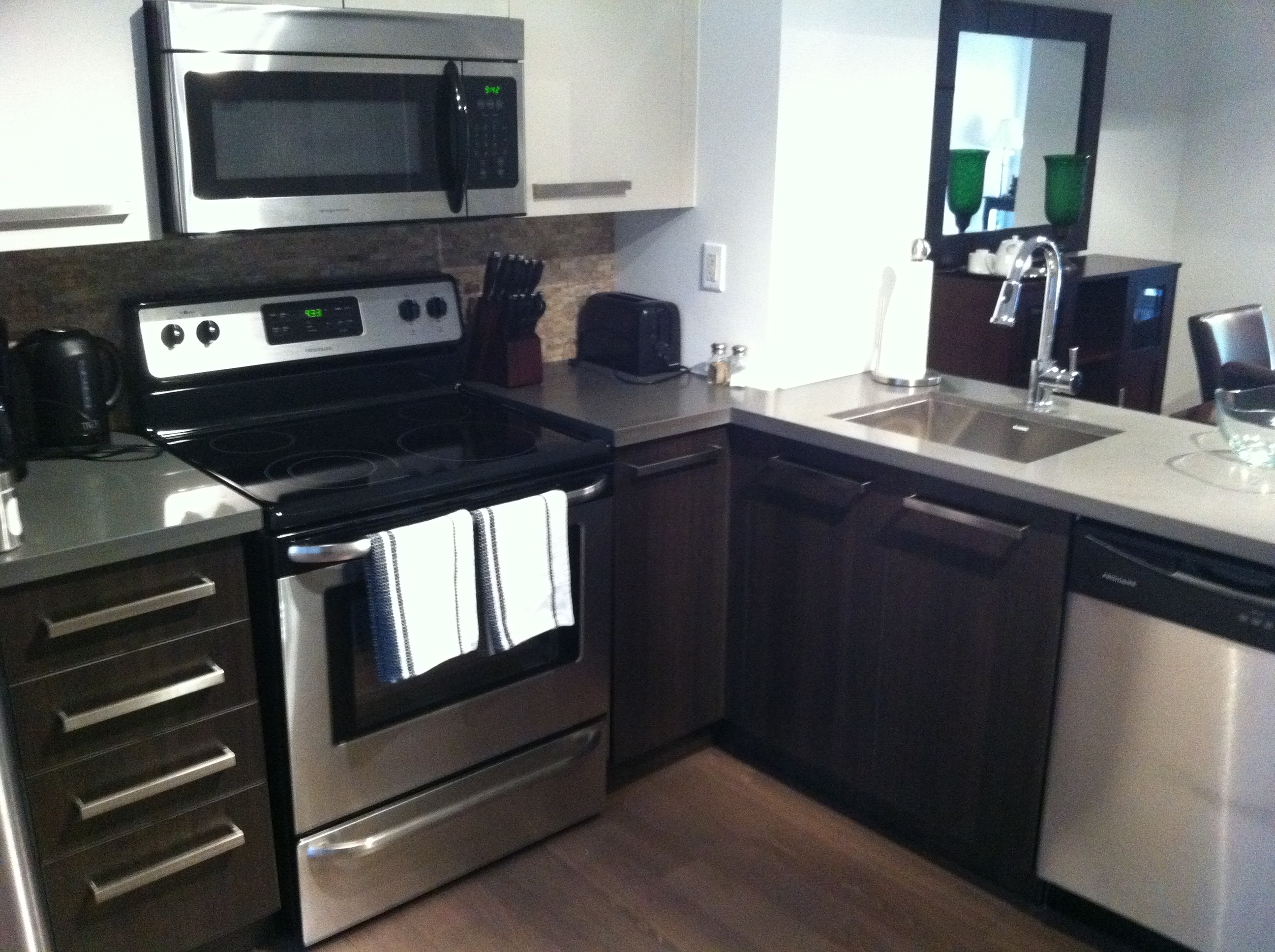 New Kitchens in all suites